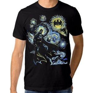 💎 DC COMICS Batman Starry Night T-Shirt L